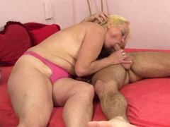 Hard screwing granny cocksucker